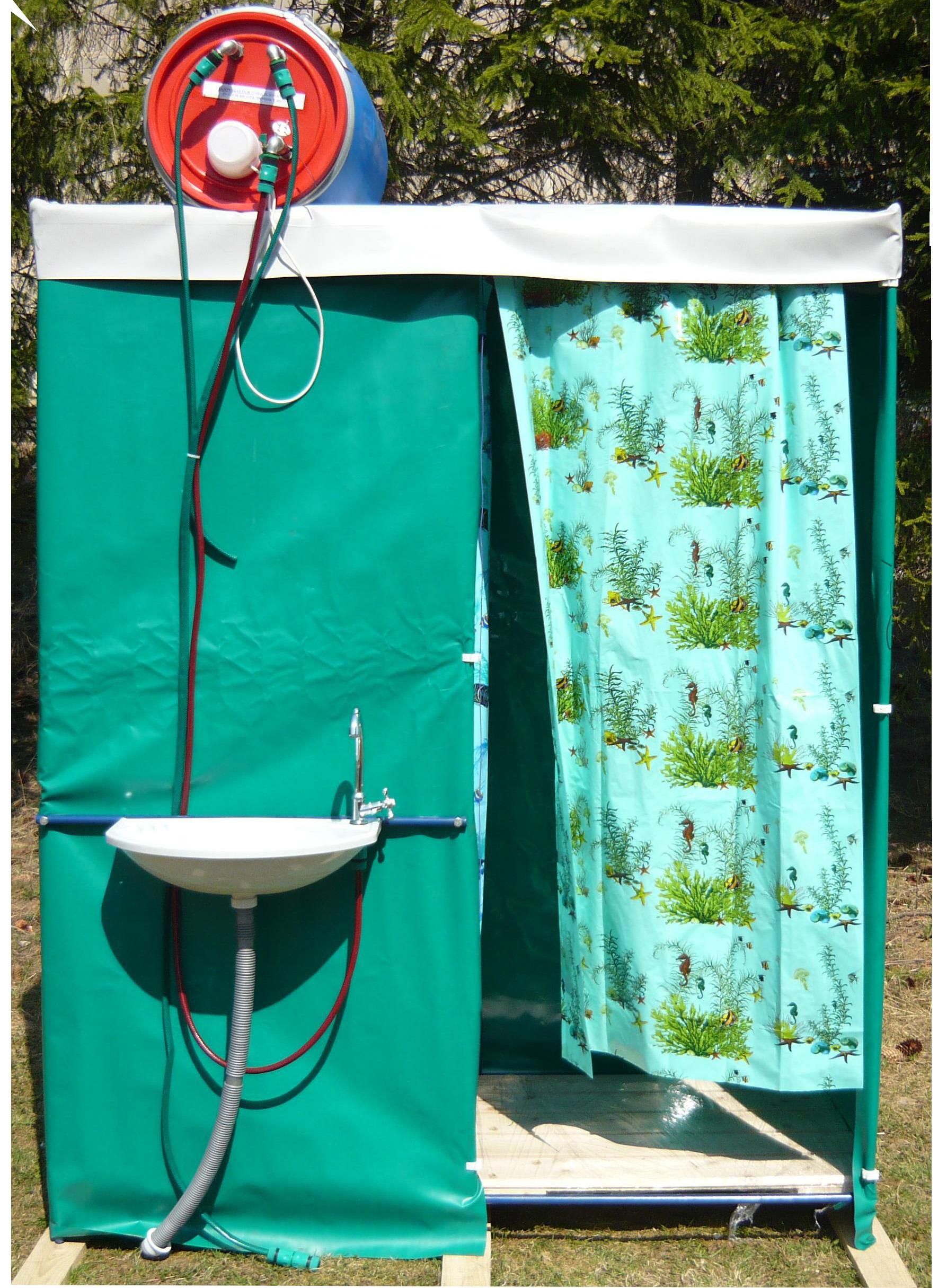 Летний душ с раздевалкой и нагревателем «БРИЗ-Д»